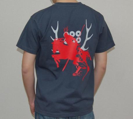 真田幸村デザインTシャツ(デニム)背面