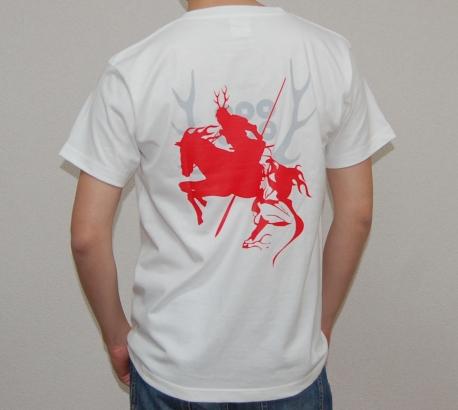 真田幸村デザインTシャツ(ホワイト)背面